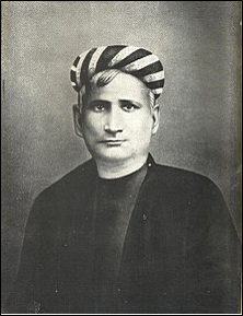 Portrait of Indian writer Chandra Chatterjee