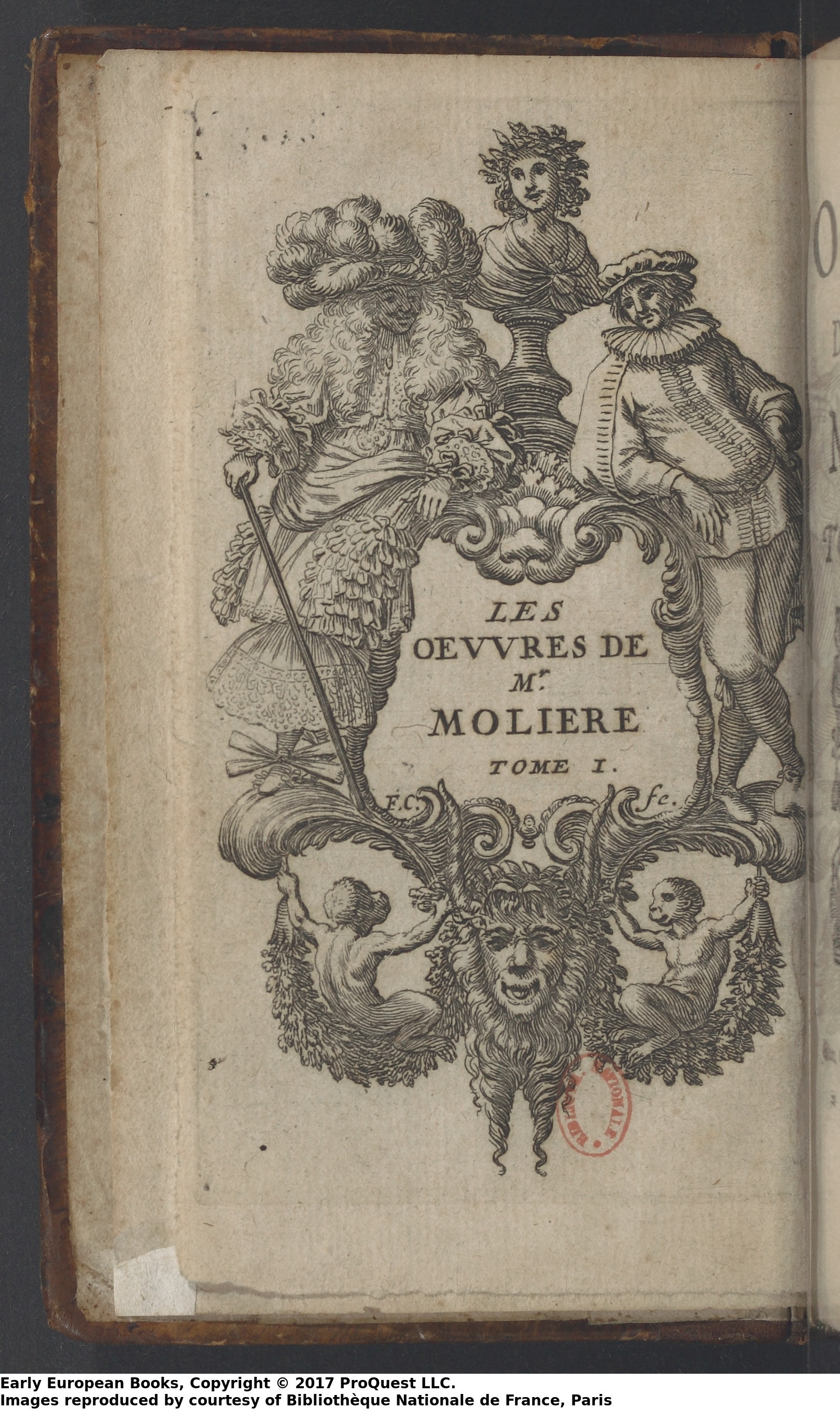 Les Ouvres des Mr Moliere Tome I ed Paris 1673 - Coat of Arms