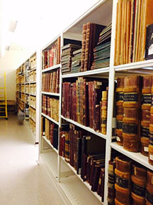 special collection books on shelves