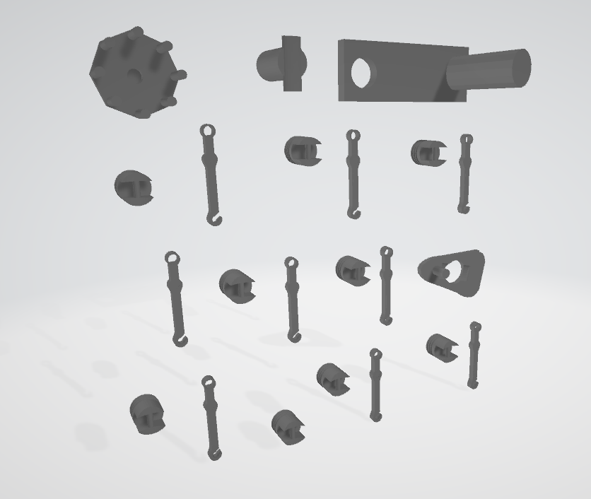 3D printed miniature motor components