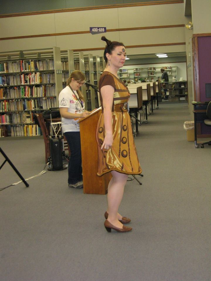 Cosplay Doctor Who Dalek Woman - Hutchens Library, SBU, 2016