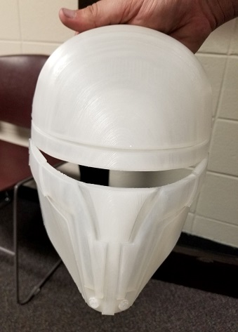 Revan's Mask (front view, unpainted)