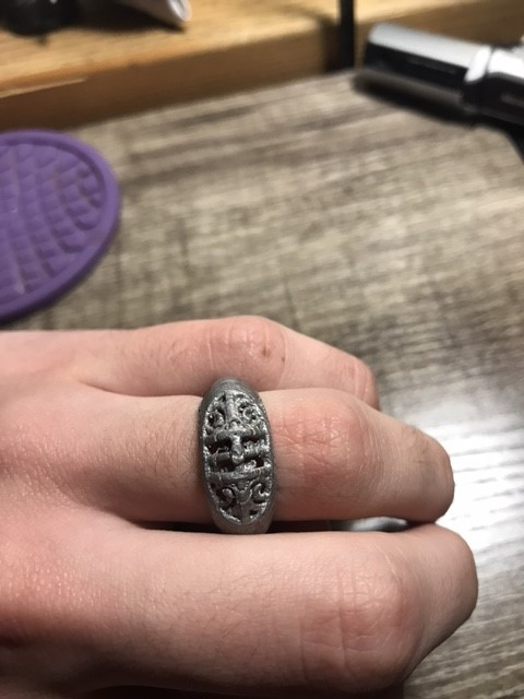 jewelry ring 3d printed displayed on hand
