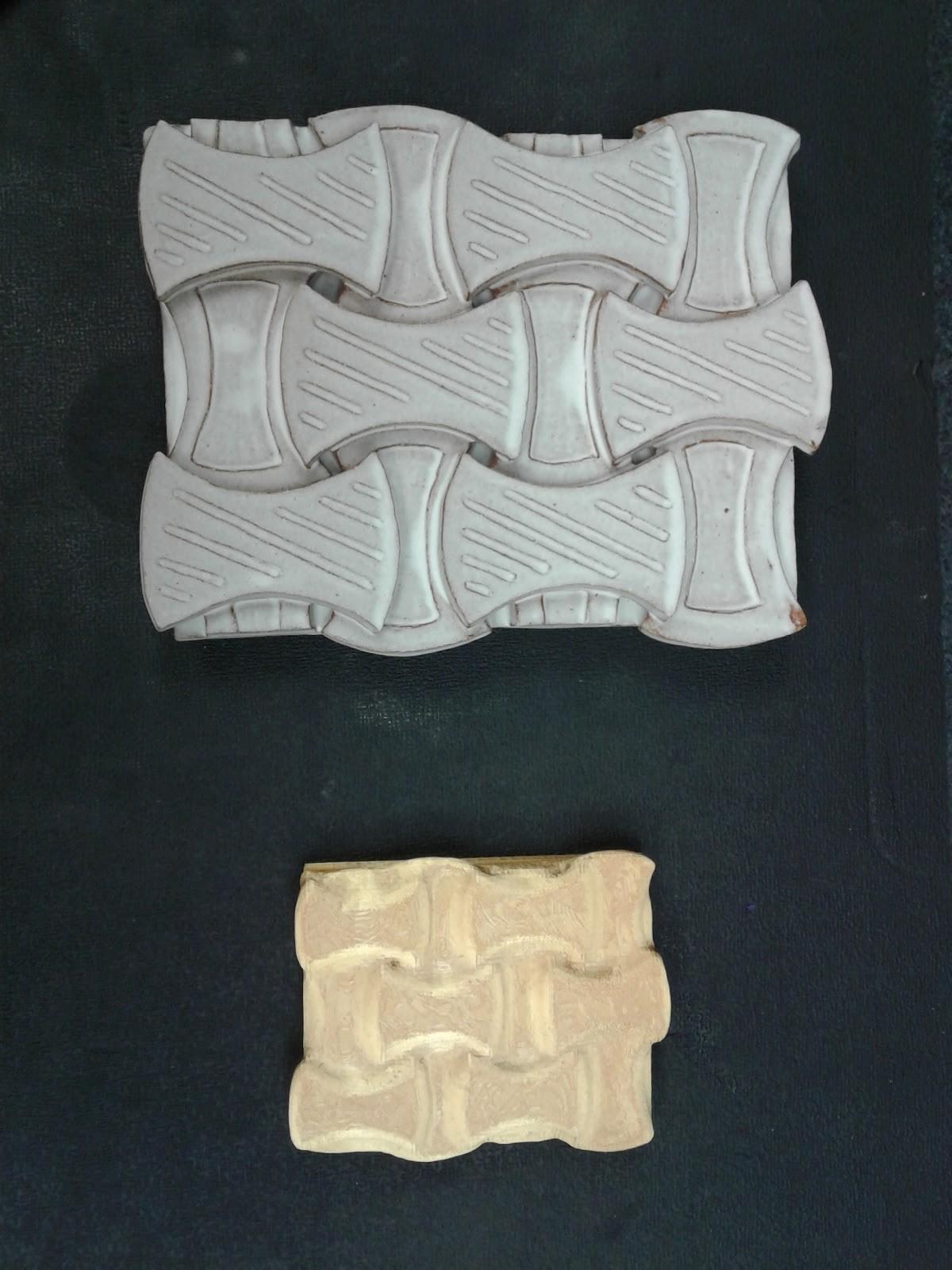 """woven"" 3d printed tile"
