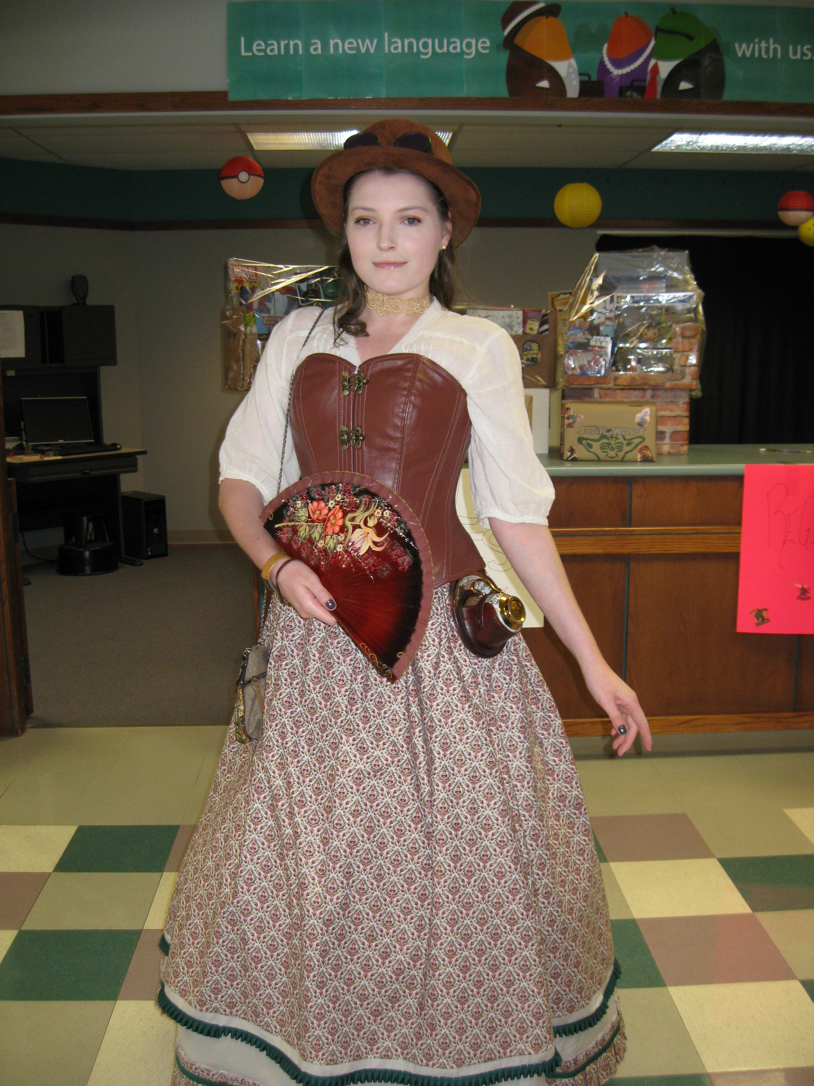 Woman in Steampunk Costume -  Hutchens Library, SBU, 2017