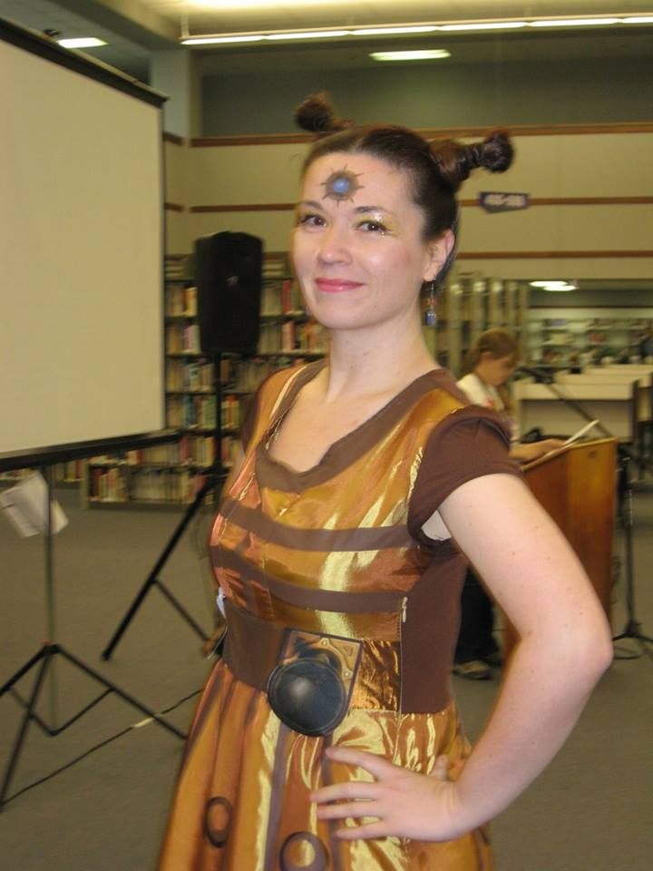 Woman in Dalek Costume  - Hutchens Library, SBU, 2016