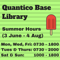 Quantico Base Library Summer Hours