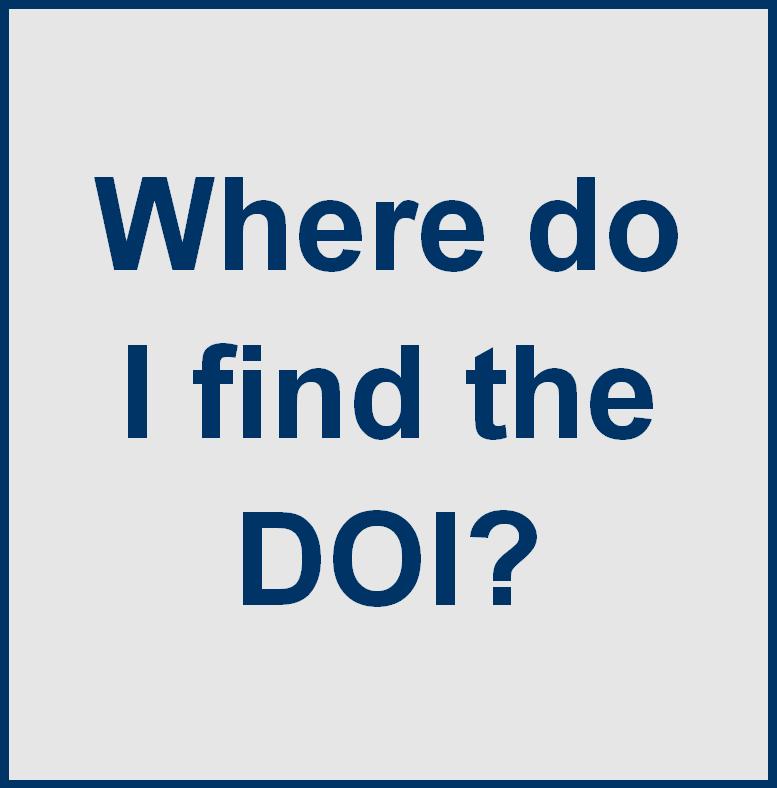 Where do I find the DOI?