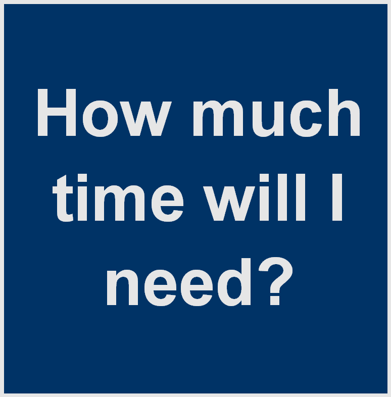 How much time will I need?