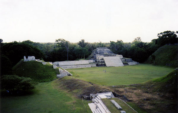 Mayan Pyramid and plaza
