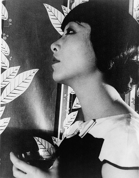 Profile portrait photograph of Anna May Wong
