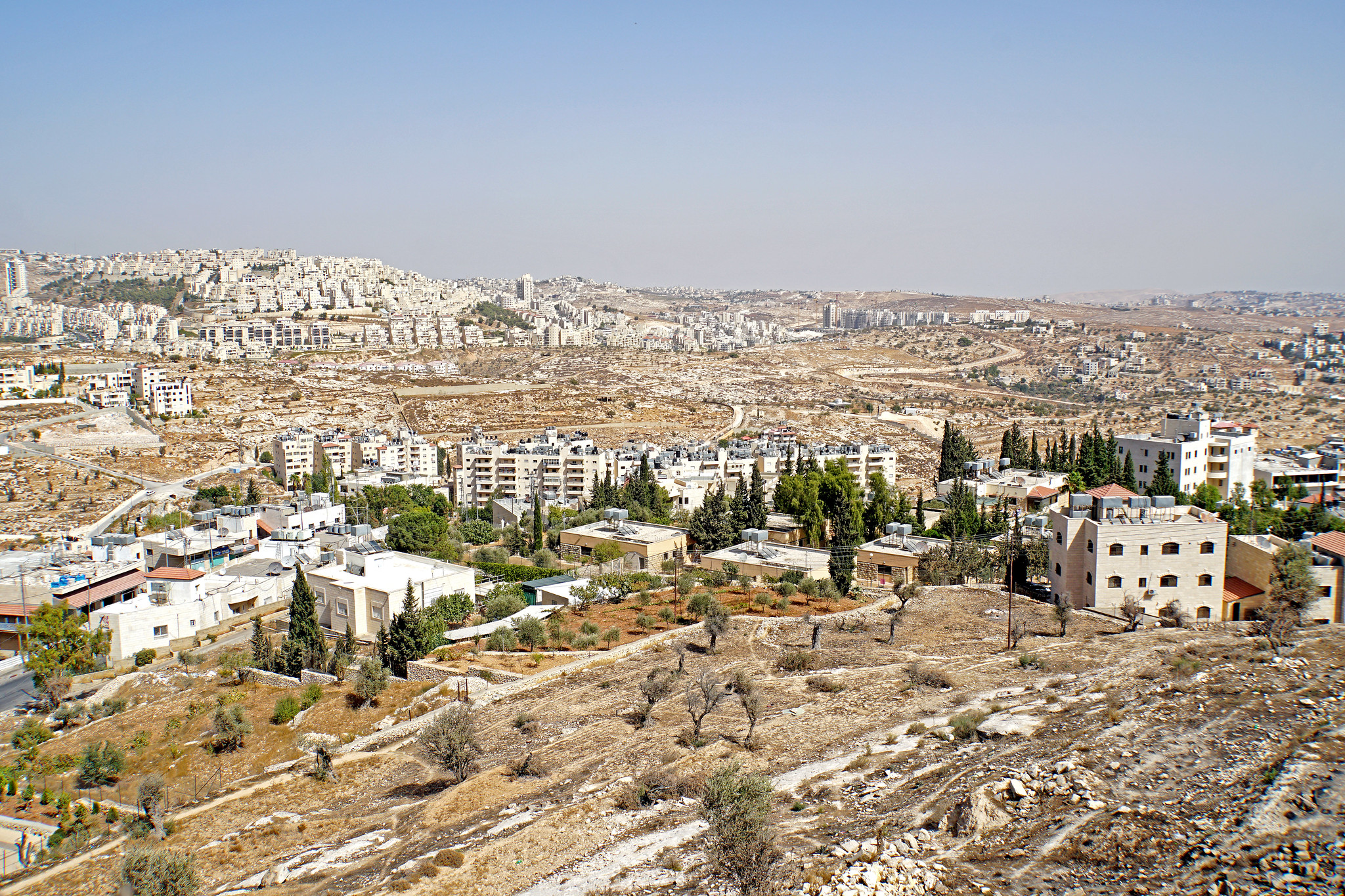 Aerial view of the city of Bethlehem