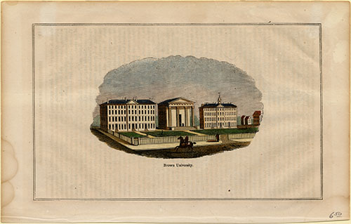 Engraving of Hope College, Manning Hall, University Hall