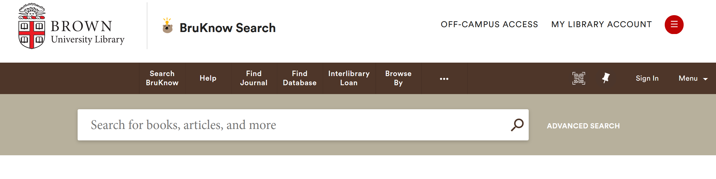 Text Box: BruKnow Databases and Journals search