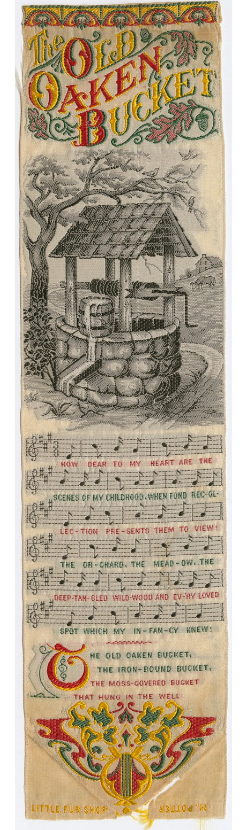 Picture of a well with sheet music underneath