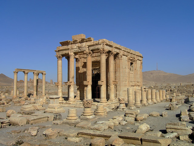 Ruins of Temple of Baal at Palmyra, Syria