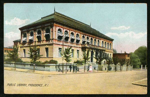 Postcard of Providence Public Library building