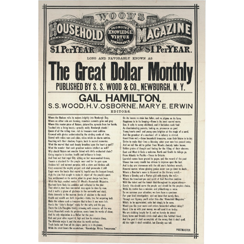 Cover from 19th century magazine