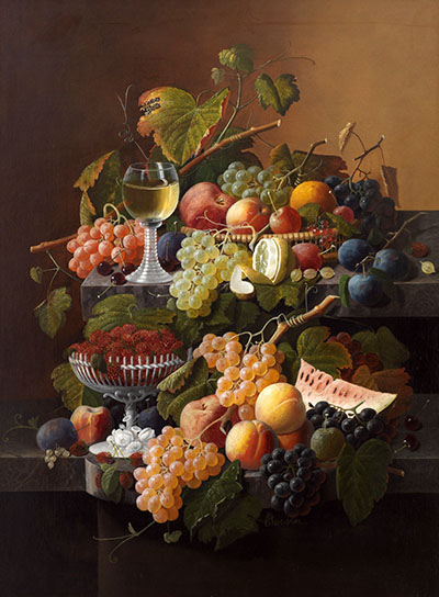 Lush still life with fruit