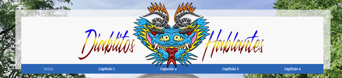 Screenshot showing the Diablitos Hablantes homepage