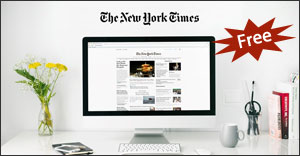 New York Times Online viewed on a computer monitor