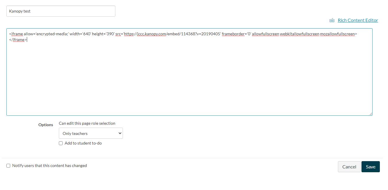 Kanopy Database Screenshot