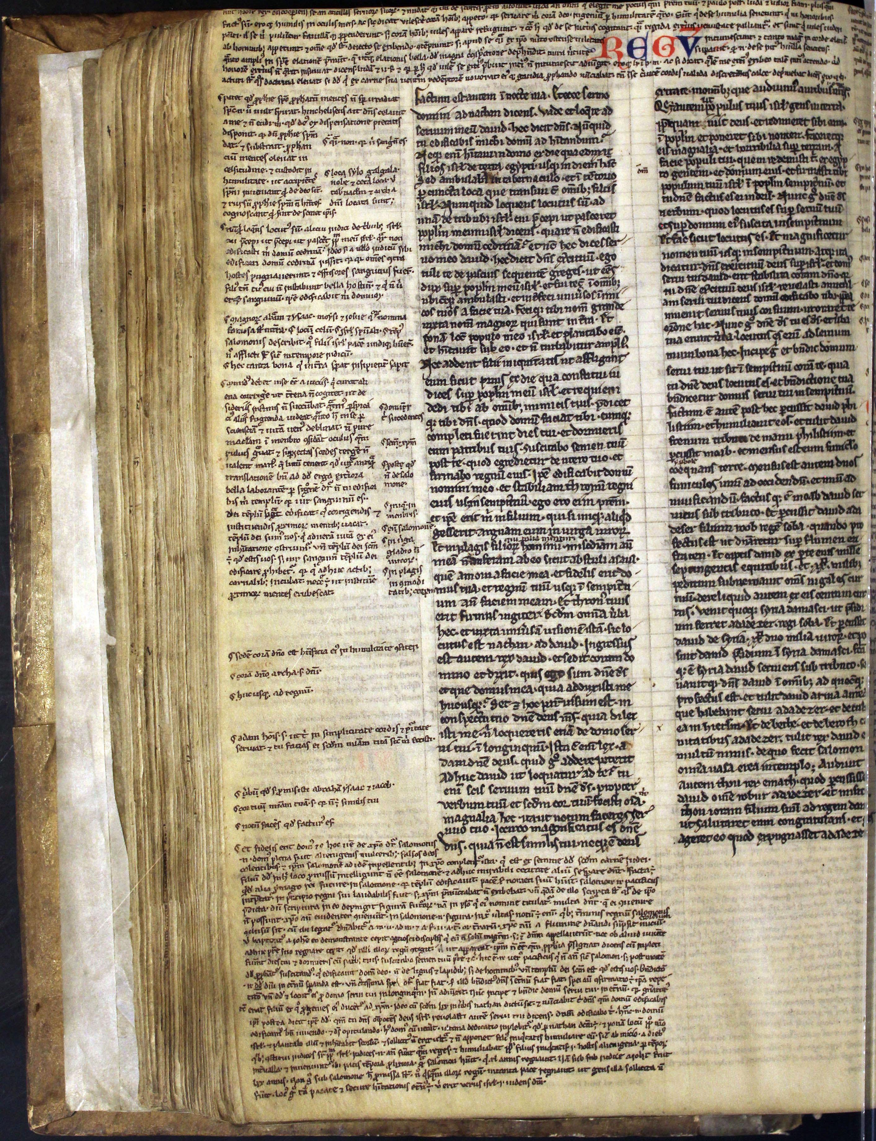 Bible. Belgium. c1220-1235. glosses.