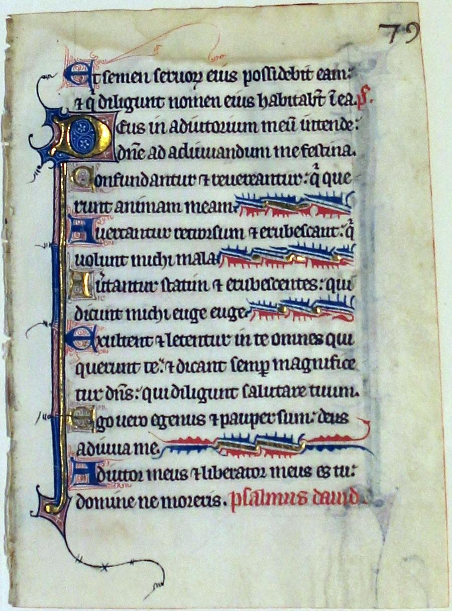 Psalter. France. leaf. 1290.