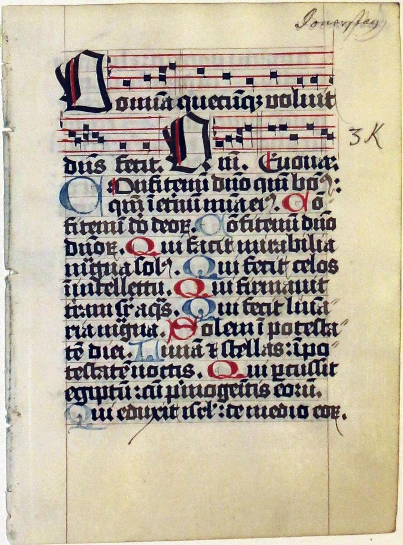 Psalter. Germany. leaf. 1510.