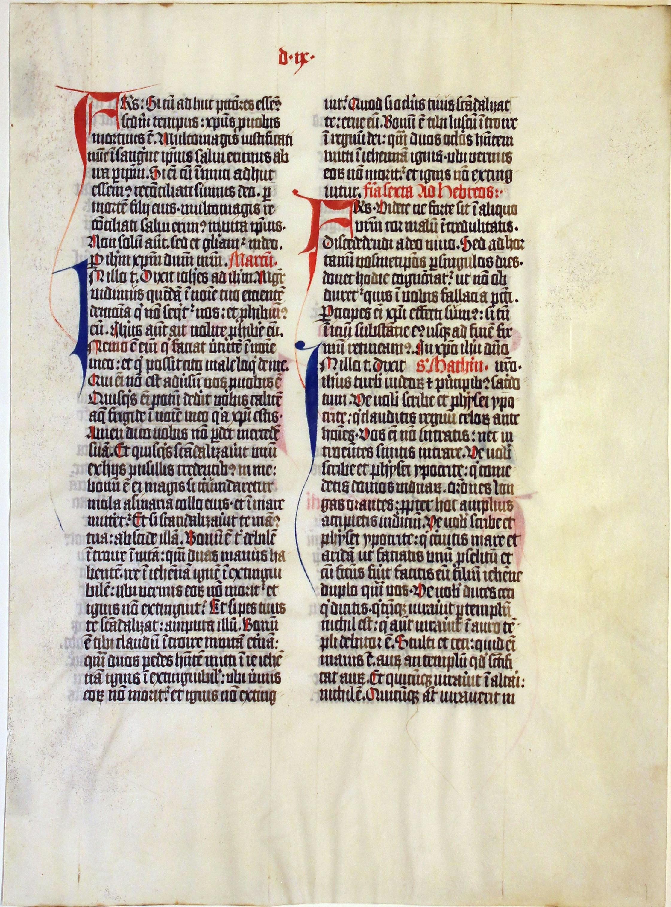 Missal. Germany. leaf. 1450.