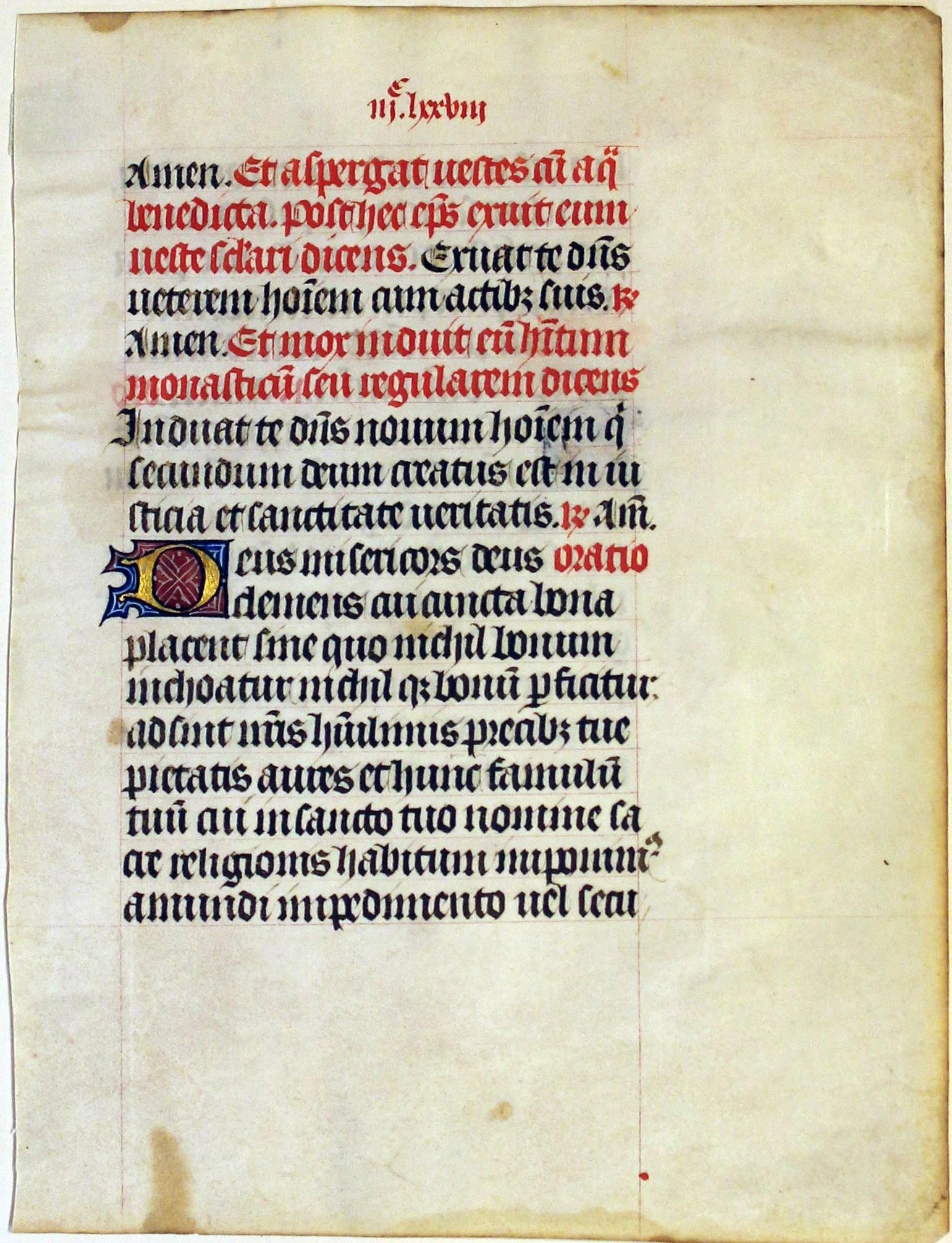 Missal. Flanders, Belgium. leaf. 1460.