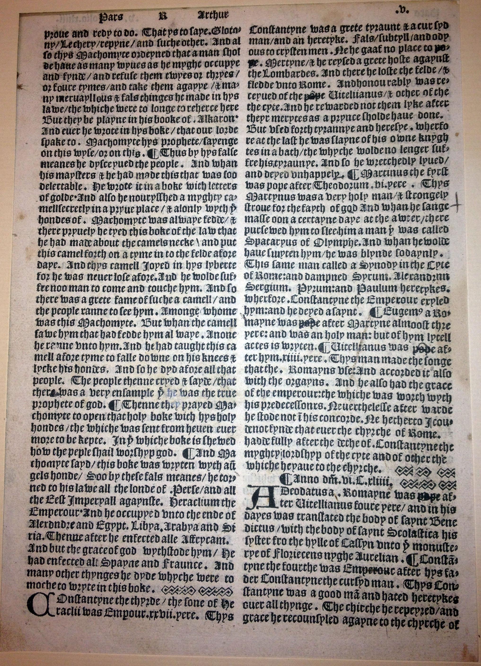 Chronicles of England, leaf, 1515.