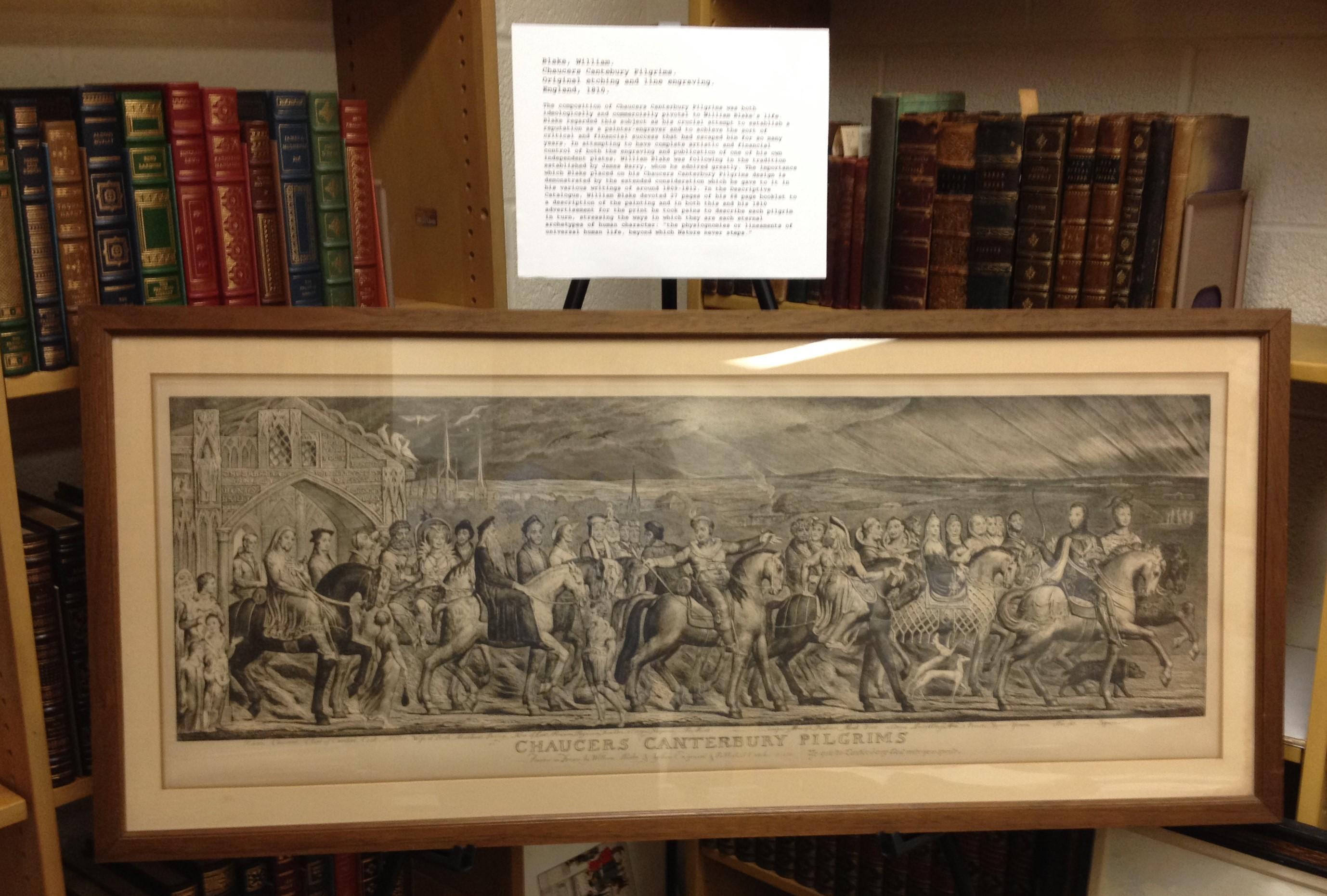 William Blake. Chaucer's Pilgrims. print. 1810.