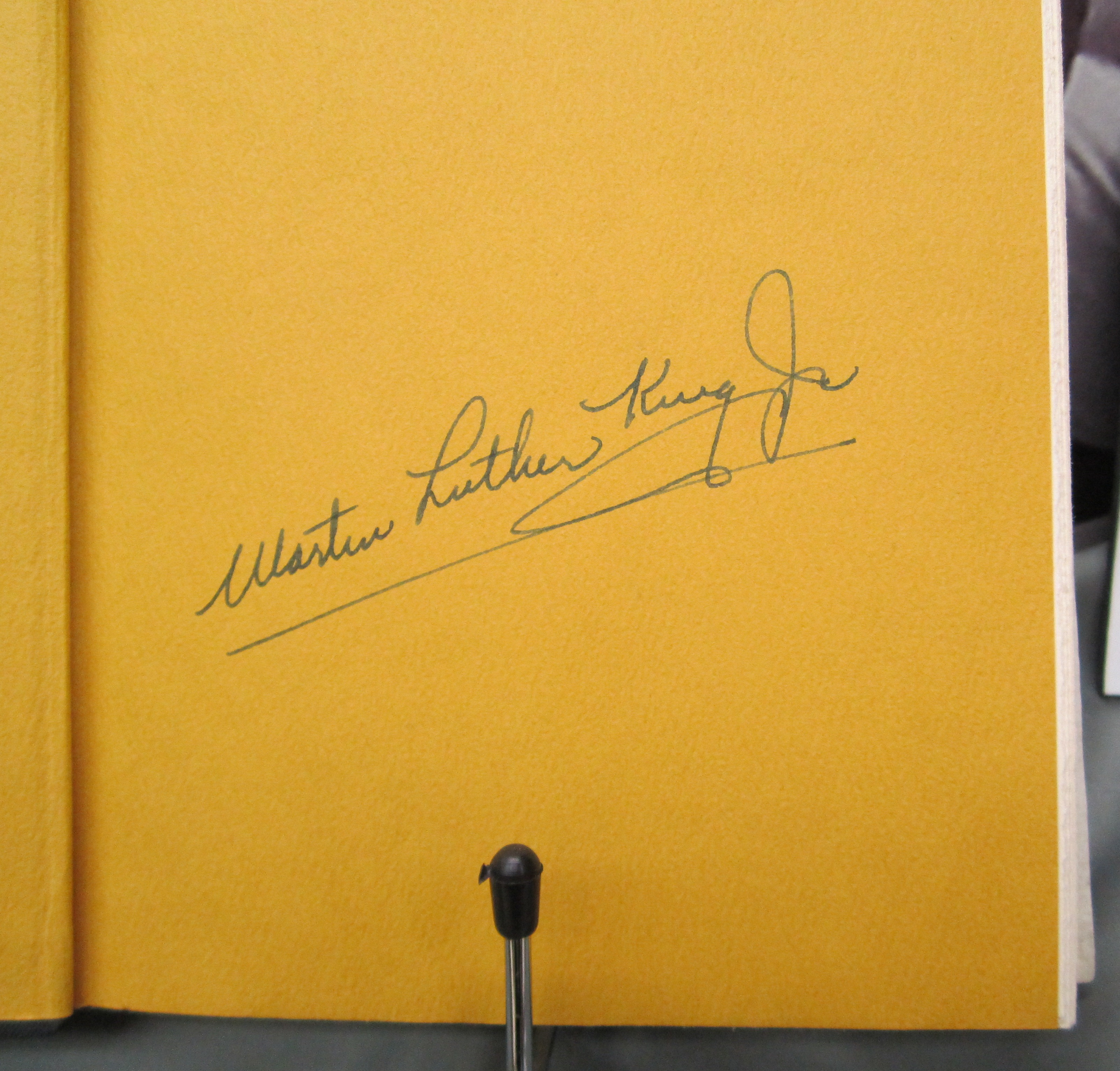Martin Luther King. Where Do We Go From Here. 1968. signed.