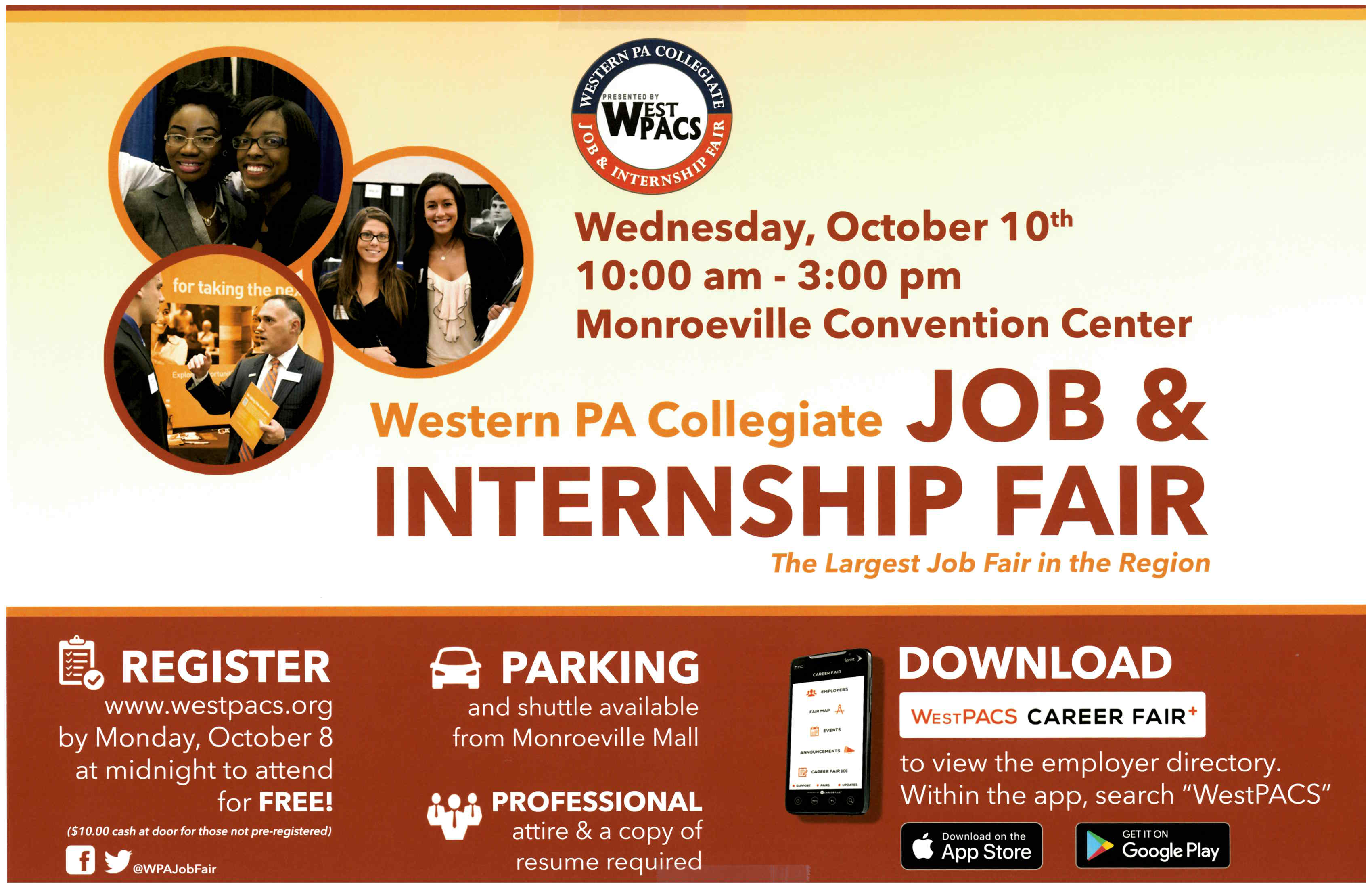 click to see full view of job and career fair