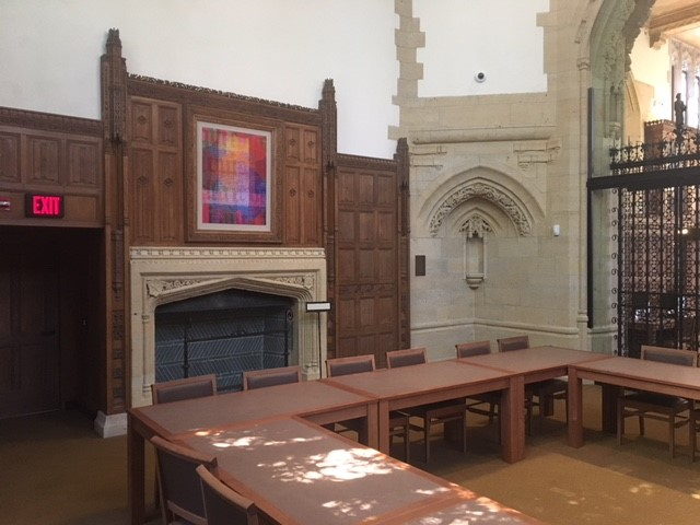 Gates Classroom, Manuscripts and Archives, Sterling Memorial Library, Yale University