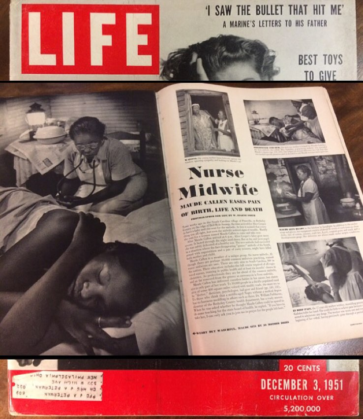 Life magazine article with Black midwife Maude Callen