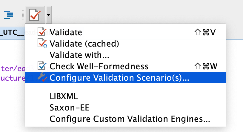 How to select one of our local validation options.