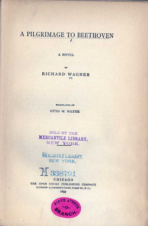 Wagner, A Pilgrimage to Beethoven