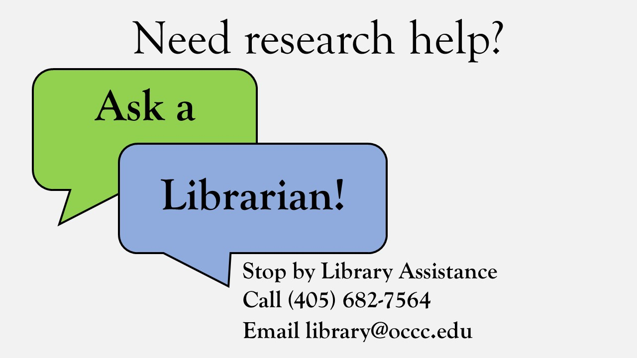 Slide - Ask a Librarian for research help