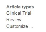 PubMed Limit by Article types