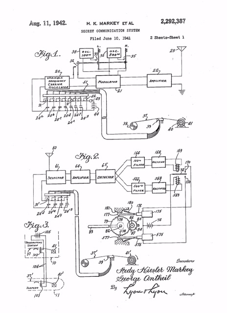 Technical drawing from US 2,292,387