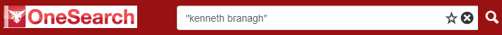 "OneSearch search box with ""kenneth branagh"""