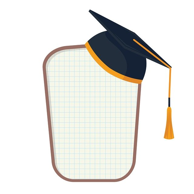 clip art with an academic cap and tassel