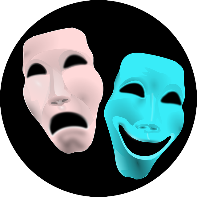 Theatre masks -- comedy and drama