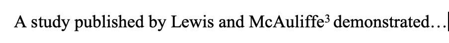 Lewis and McAuliffe (superscript 3)