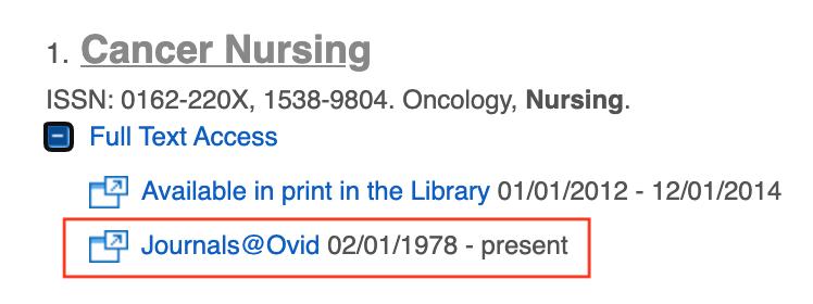 cancer nursing Journals@Ovid