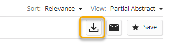 Download references button in Scifinder-n