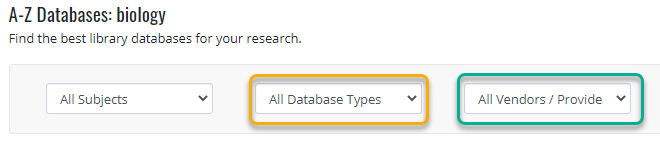 Refinements to database browse
