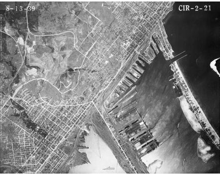 1939 Aerial Photo of Duluth Harbor